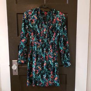 Merona Long Sleeved Floral Mini Dress